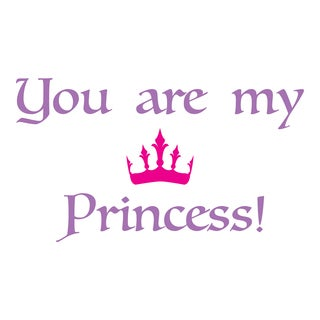 Princess Wall Quote Decals (Option: Purple)