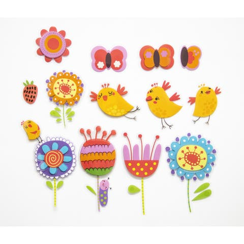Birds and Flowers 3D Wall Decals