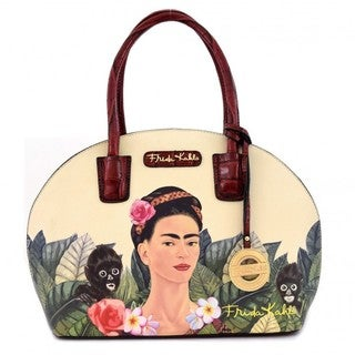 Frida Kahlo Jungle Series Frame Dome Satchel Handbag