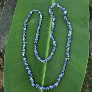 Handcrafted Sodalite 'Light of Peace' Necklace (Brazil)