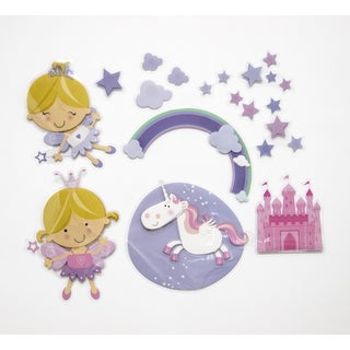 Happy Fairies 3D Wall Decals (Option: Purple)