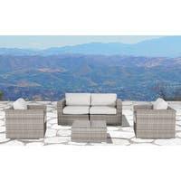 Verona Wicker 5-piece Deep Seating Group Resort Grade Outdoor Furniture Patio Sofa Set  with Cushion