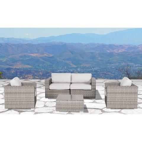 LSI Verona Wicker 5-piece Resort Grade Outdoor Furniture Patio Sofa Set