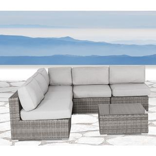 Verona Grey 6-piece Sectional Seating Group with Cushions by Living Source International
