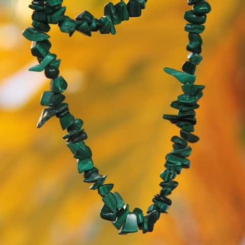 Handmade Malachite 'Natural Muse' Necklace (Brazil)