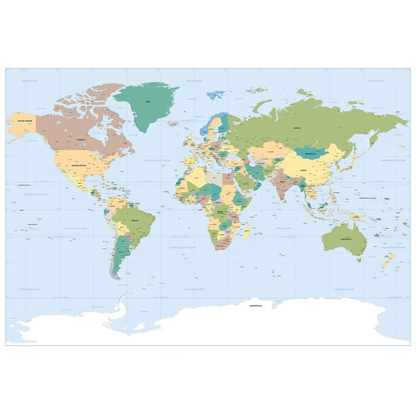 Shop World Map Wall Mural Free Shipping On Orders Over 45