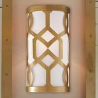 Modern 1-light Aged Brass Wall Sconce