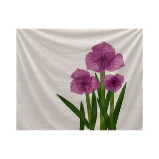Amaryllis, Floral Print Tapestry (Option: Pink)