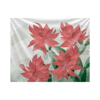 Christmas Cactus, Floral Print Tapestry (Option: Pink)