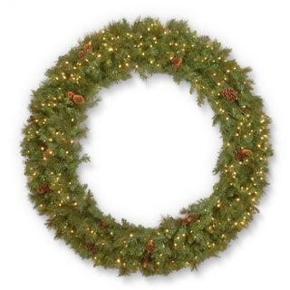 "60"" Garwood Spruce Wreath with Warm White LED Lights"