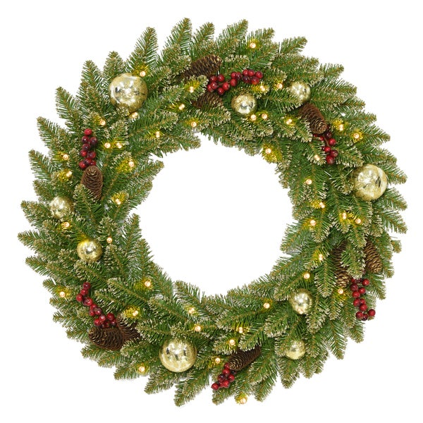 Battery-Powered Stairs Snowflake Bristles Walls Christmas Wreath Closets 20 Christmas Wreaths for Front Door with Timer White Light Pine Cones Suitable for Front Doors Pinewood with Berries
