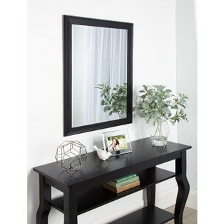 Kate and Laurel Scoop Black Framed Beveled Wall Mirror