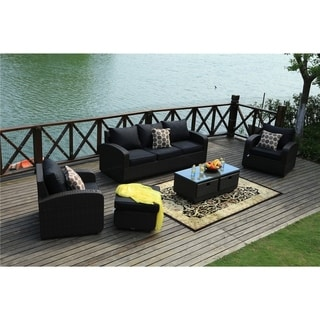 Direct Wicker Strathmere 5-piece Deep Wicker Seating Patio Set