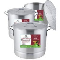 Aluminum Steamer Stock Pot (Set of 3)