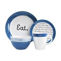 American Atelier Conversation Blue 16Pc Dinnerware Set