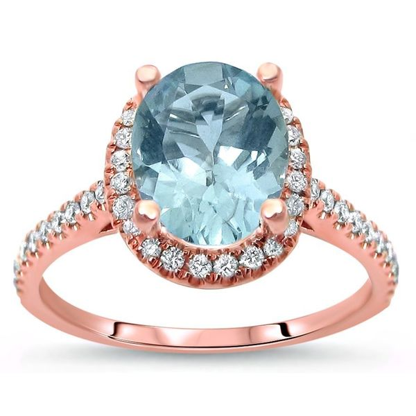 Shop Noori 14k Rose Gold 1 9/10ct TGW Oval-cut Aquamarine