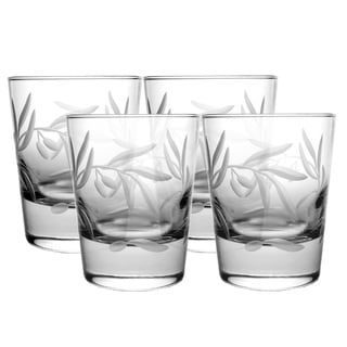 Olive Branch Double Old-fashioned Glasses (Pack of 4)