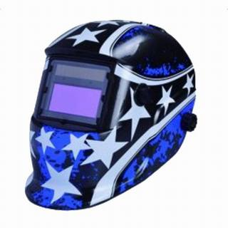 Auto Color Changing Solar Power Welding Helmet Shield 1632A Blue & Five-pointed Star Pattern