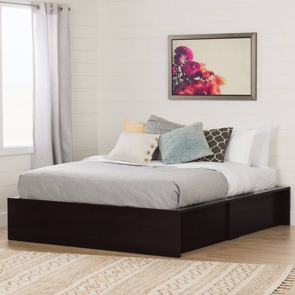 Groovy Shop South Shore Fusion 60 Inch Ottoman Queen Storage Bed Gmtry Best Dining Table And Chair Ideas Images Gmtryco