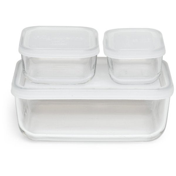 Charmant Bormioli Rocco Frigoverre Basic Rectangle Glass Food Storage Containers  With Lids