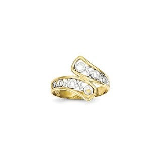 10 Karat Gold & Rhodium Filigree Ring
