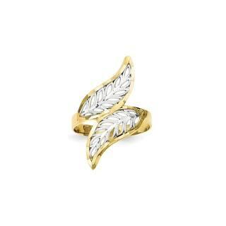 10 Karat Gold & Rhodium Diamond-Cut Filigree Ring|https://ak1.ostkcdn.com/images/products/16402730/P22751920.jpg?impolicy=medium