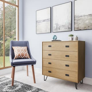 Simple Living Asela Mid Century Four Drawer Chest