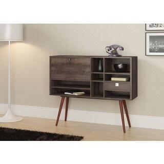 Ideaz International 23604 Terrarum Walnut Wood Cubby Console