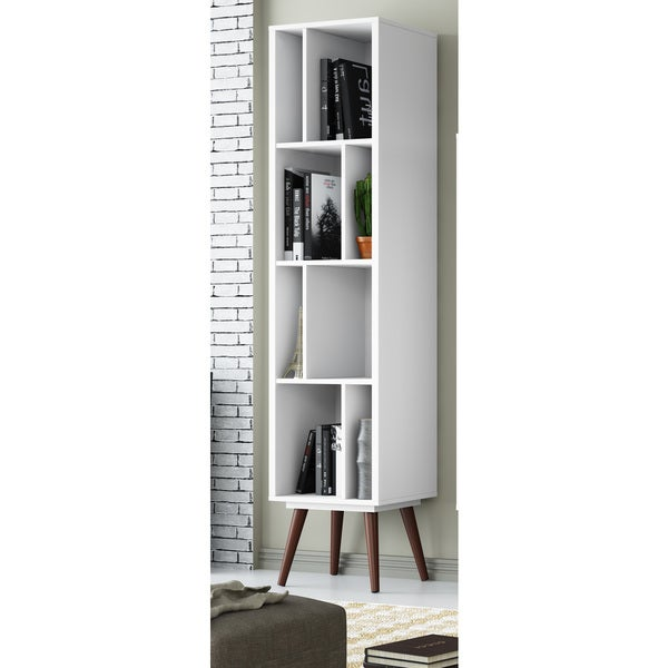23605 White Satin Tall Cubby Bookcase