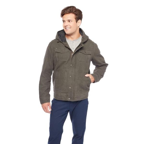 GH Bass Men's Sherpa Lined Hoodie Jacket