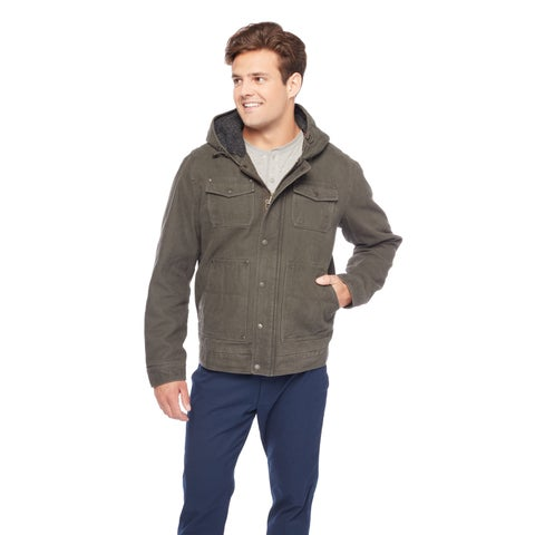 GH Bass Men's Sherpa Lined Hoodie Jacket