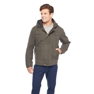 BM7RC282-GH Bass Men's Hoody w/Sherpa Lined Hood and Plaid Lined Body Jacket