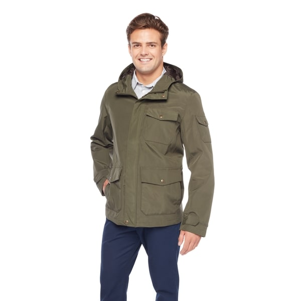 GH Bass Men's Arctic Cloth 3-Pocket Breathable Waterproof Rain Hoodie