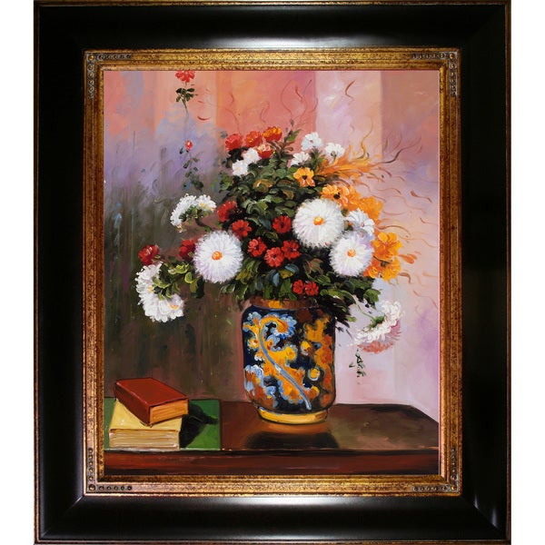 Shop Theodore Robinson Bouquet Of Flowers Chrysanthemums In A
