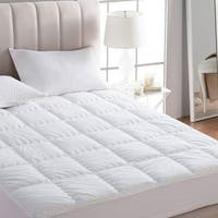 Extra Thick Cotton Top Down Alternative Mattress Pad - White