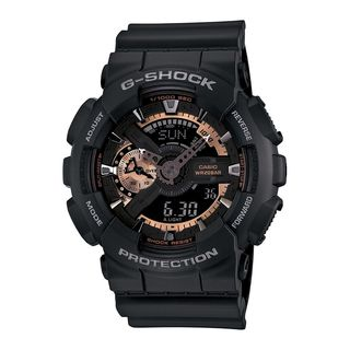 Casio Men's GA110RG-1 'G-Shock' Analog-Digital Black Resin Watch