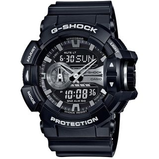 Casio Men's GA400GB-1A 'G-Shock' Analog-Digital Black Resin Watch