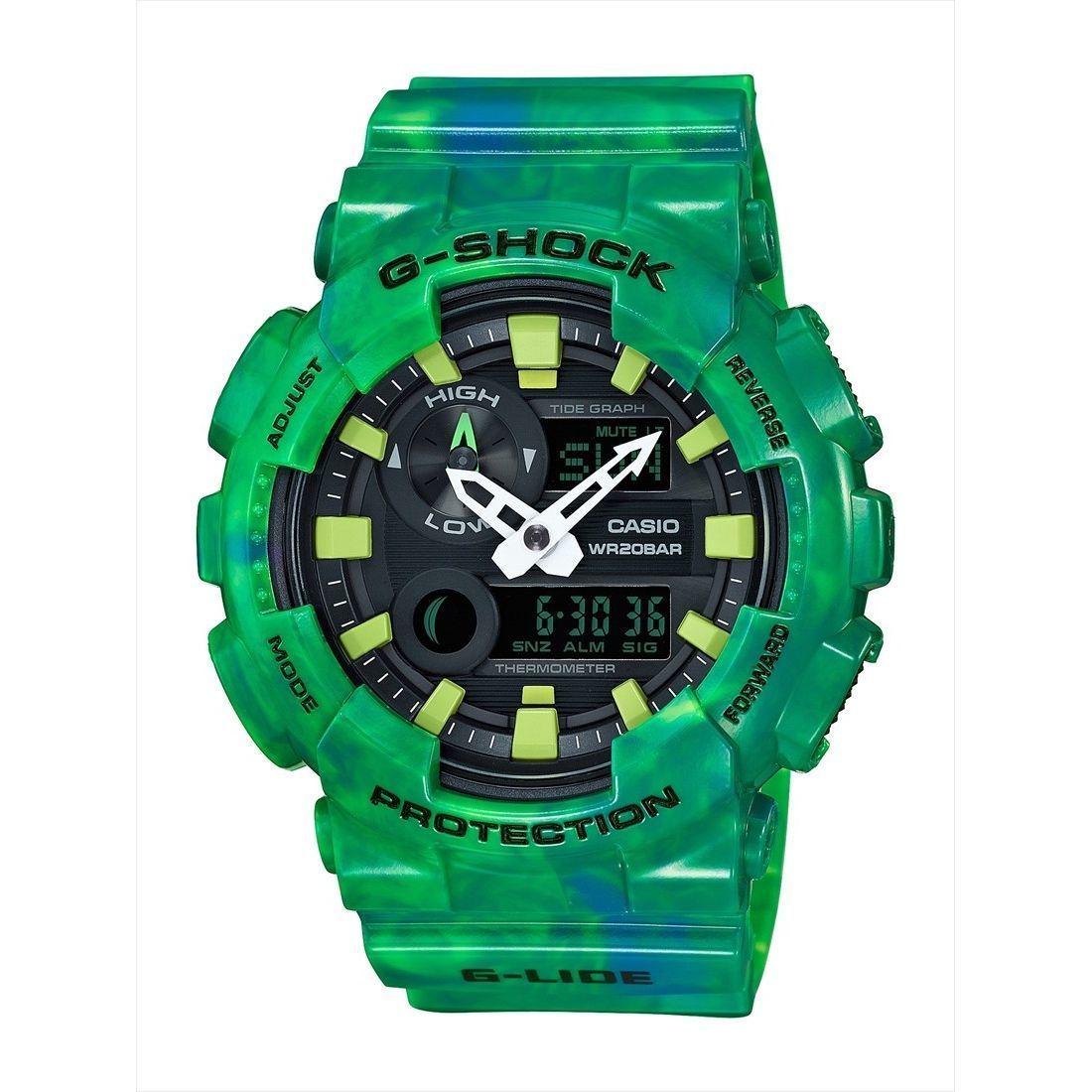 Casio Men's GAX100MB-3A 'G-Shock' Analog-Digital Green Re...