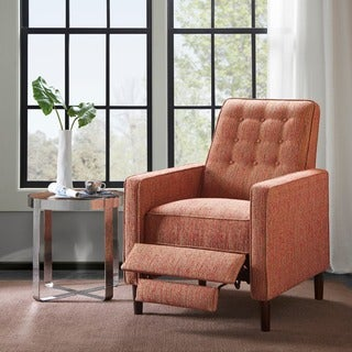 Madison Park Aartwood Red Push Back Recliner
