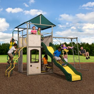 Backyard Discovery Power Tower Metal Swing Set