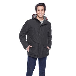 F60726-London Fog Men's 31-inch Microfiber PVC Zip Fly Snap Closure Attached Hood 3-in-1 Anorak|https://ak1.ostkcdn.com/images/products/16402920/P22752054.jpg?impolicy=medium