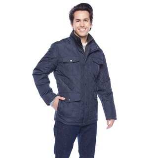 London Fog Men's 32-inch Diamond Quilted Bibby Field Coat (3 options available)