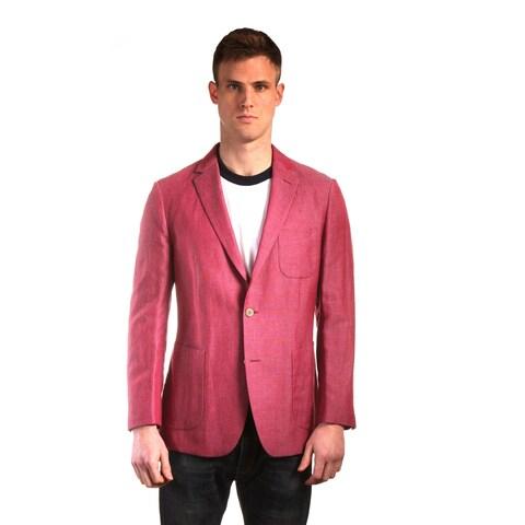 "The ""Savannah"" in Cherry - Men's Lightweight Linen Luxury Sportcoat"