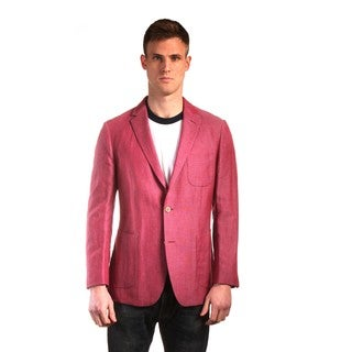 "The ""Savannah"" in Cherry - Men's Lightweight Linen Luxury Sportcoat"