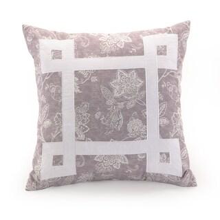 Modern Heirloom Purple 18-inch Decorative Throw Pillow