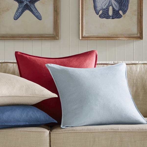 Madison Park Goleta Oversized Linen Decorative Pillow 4 color option