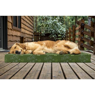 FurHaven Pet Bed Indoor/Outdoor Garden Deluxe Orthopedic Mattress Dog Bed