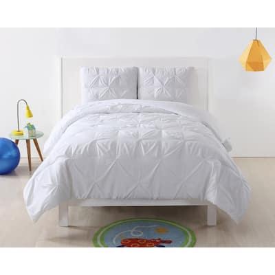 My World Pinch Pleat Solid Comforter Set