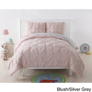 Laura Hart Kids Pinch Pleat Solid 3-Piece Comforter Set (More options available)