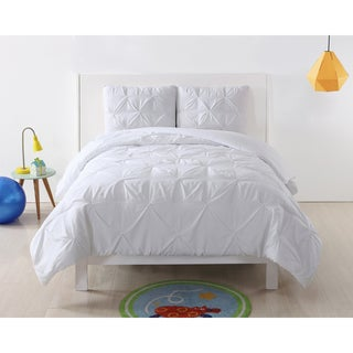 Laura Hart Kids Pinch Pleat Solid Comforter Set
